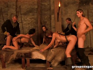 Donjon group sex session here Vanessa Twain and her slutty friends