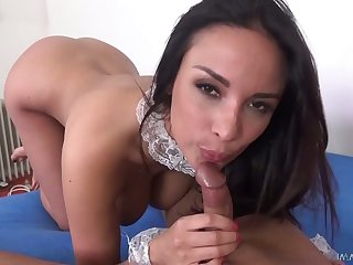 Turn over in one's mind catching French goddess Anissa Kate gives her head and rides a dick like crazy call-girl