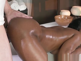 Alluring glamcore infant massaged and fucked