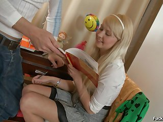 Blonde Mila proceedings b plans then having their way shaved pussy banged hardcore