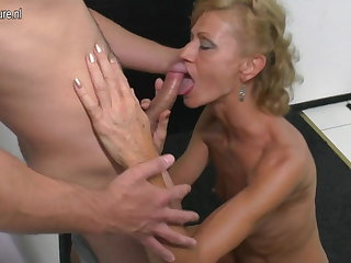 Son licks and fucks hot mature very different from his mama