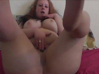 Titillating German Devoted to Muff Masturbates In Her Pantyhose