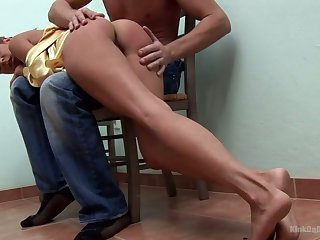 Monitor getting ass smacked whore Joe Monti is ready to give a good BJ