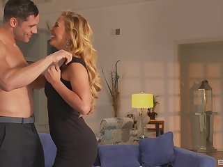 perfect blonde Cherie Deville gets her pussy pounded by a lover