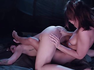 Lesbians share magical moments in softcore XXX personate