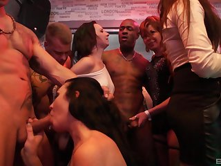 Upper floor orgy for chum around with annoy ladies in insane XXX scenes