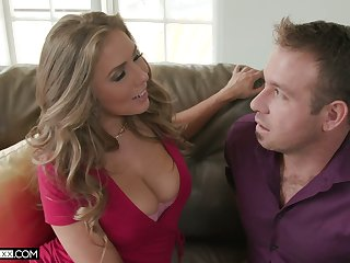 Hot wife Lena Paul gives a splendid blowjob and gets fucked in different positions