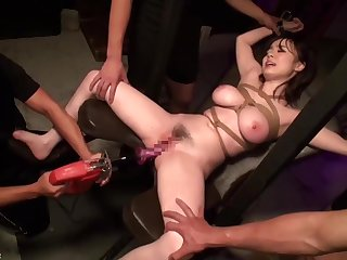 JAV Be in charge Babe Tied Fetish Toys Blowbang Aimi Spry