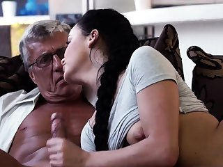 Old bald guy gangbang having it away first time What would you