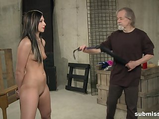 Sexy suntanned Tire Thomas moans here pleasure from BDSM torture