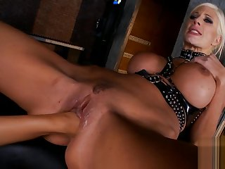 smoking hot mistress with reference to thigh high boots and gloves lezdom