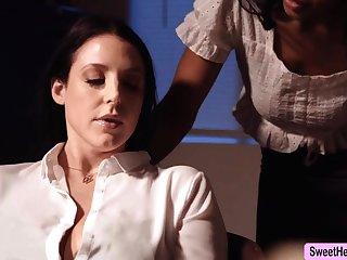 Mr Big Writer Angela White licks Jenna Foxx to relax a bit