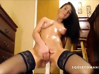 Hot Babe Squirting Over and Over Again