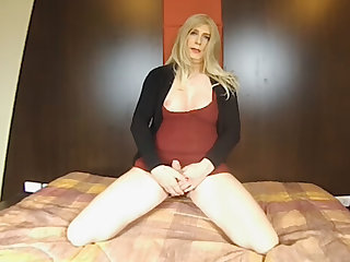 Blonde European Shemale Weasel words Play And Jerk Be incumbent on Instruction (JOI) - SexLikeReal Shemale