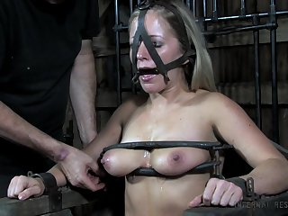 Submissive slut Dia Zerva gets their way pussy and twat punished in the BDSM room