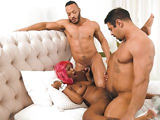 Horny studs fuck a tight coloured depending on she falls exhausted