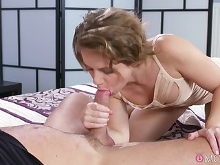 Awesome views of a hot blonde taking dick deep in her ass