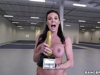 Denude MILF screams with endless inches ramming her still tight cunt