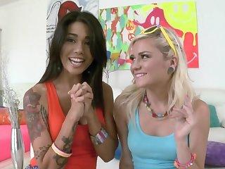 Anal loving babes Dana Vespoli and Chloe Foment obtain fucked good