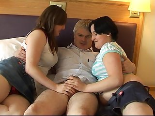 Chubby wife and will not hear of nasty friend enjoy pleasuring will not hear of scrimp
