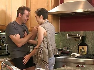 Posh milf India Summer and one young chick are fucked by hot blooded dude